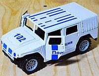 102 Хамер полиция, двери открываются, в пакете, 15*7см, фото 1