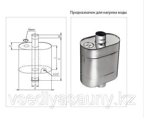 Бак Комфорт эллиптический с трубой 60л. Ferrum. Ф115 - фото 2