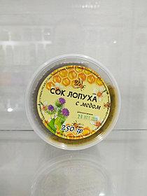 Сок лопуха с мёдом, 250г
