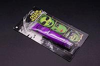 Светящаяся краска для грима (аквагрим) 19 гр, фиолетовая