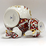 Комплект чайников Красный конь. Императорский фарфор, Санкт-Петербург, фото 2