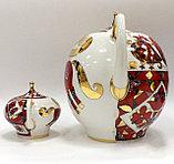 Комплект чайников Красный конь. Императорский фарфор, Санкт-Петербург, фото 3