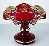 Фруктовница 36 см красная Talir (JN Glass, Чехия)