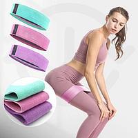 Набор тканевых фитнес резинок, эспандеры ленточные, фитнес ленты 3 шт