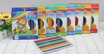Карандаши для Рисования 18 цветов