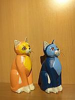 Деревянные сувениры кошки, статуэтки