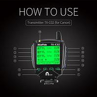 TX-C02 фото радио синхронизатор для NiceFoto K8