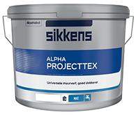 Sikkens Alpha Projecttex.  Глубокоматовая краска для стен и потолков