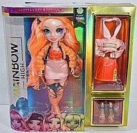 Оранжевая кукла Рейнбоу Хай Поппи Роуэн (Rainbow High Poppy Rowan Orange Fashion Doll MGA