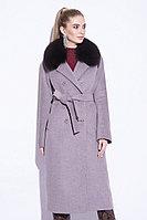 Пальто зимнее, 40-50, микроворс, песец, латте