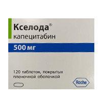 Кселода ( капецитабин ) 500мг таблетки № 120 Roche