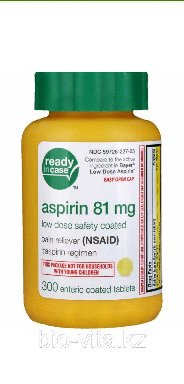 Аспирин Aspirin (Американский,   не раздражает желудок). Аналог Кардиомагнила. 81 мг. 300 таблеток.