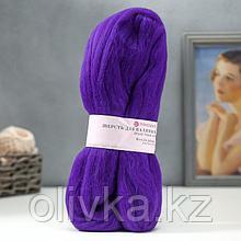 Шерсть для валяния 100% полутонкая шерсть 50гр (698-Т.фиолетовый)