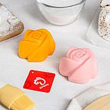 Набор форм для выпечки «Розочки», 6 шт, 7×4 см, цвет МИКС, фото 4