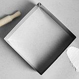 """Форма для выпечки и выкладки """"Квадрат"""", H-8,5 см, 26 х 26 см, фото 2"""