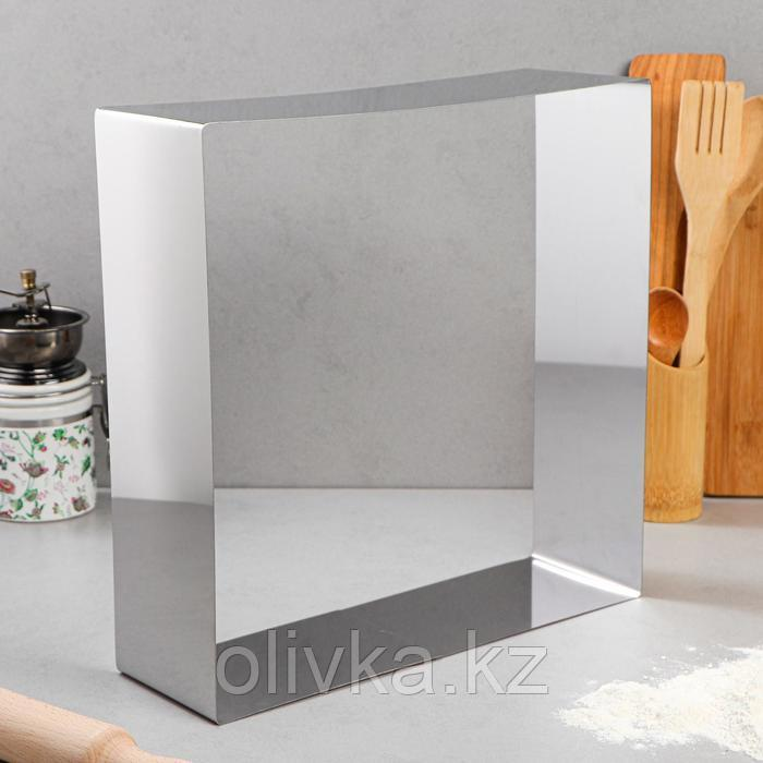 """Форма для выпечки и выкладки """"Квадрат"""", H-10 см, 32 х 32 см"""