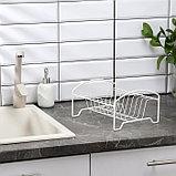 Сушилка для посуды «Мини», 21×26×13 см, цвет белый, фото 2