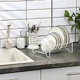 Сушилка для посуды «Мини», 21×26×13 см, цвет белый, фото 3