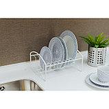 Сушилка для посуды «Мини», 21×26×13 см, цвет белый, фото 4