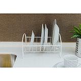 Сушилка для посуды «Мини», 21×26×13 см, цвет белый, фото 5