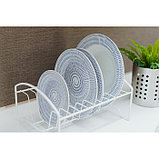Сушилка для посуды «Мини», 21×26×13 см, цвет белый, фото 6