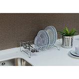 Сушилка для посуды «Мини», 35×21×12 см, цвет хром, фото 6