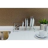 Сушилка для посуды «Мини», 35×21×12 см, цвет хром, фото 7
