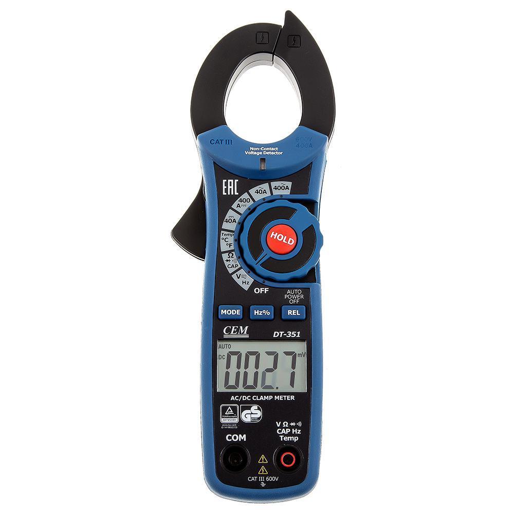 CEM DT-351 Профессиональные токовые клещи для измерения                постоянного и переменного тока