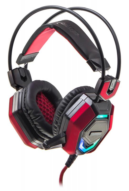 Наушники компьютерные Oklick HS-L900G HURRICANE черный/красный 1.85м мониторные USB