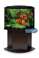 Аквариум GoldFish,угловой сектор 85 литров с крышкой и лампой