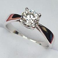Сертификат GIA 0.90Сt SI2/L Good-Cut Золотое 585 пр. кольцо с Бриллиантом, фото 1