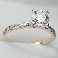 Сертификат GIA 1,10Сt SI2/L Good-Cut Золотое кольцо с бриллиантом