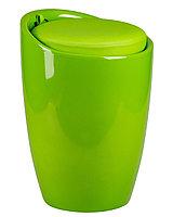 Табурет пластиковый с местом для хранения салатовый