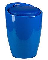 Табурет пластиковый с местом для хранения синий