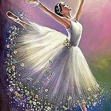 """Картина стразами на подрамнике (40х50 см) """"Балерина""""MB-647"""
