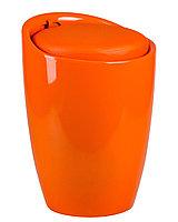 Табурет пластиковый с местом для хранения оранжевый