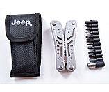 Мультитул Jeep серебристый (с набором бит), фото 9