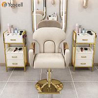 Золотое кресло для парикмахерской Yoocell