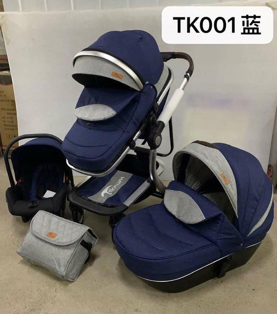Коляска 3в1 Teknum tk 001 blue