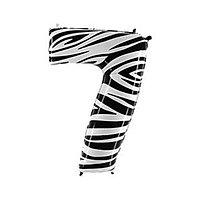 """Шар фольгированный 40"""" «Цифра 7», Zebra"""