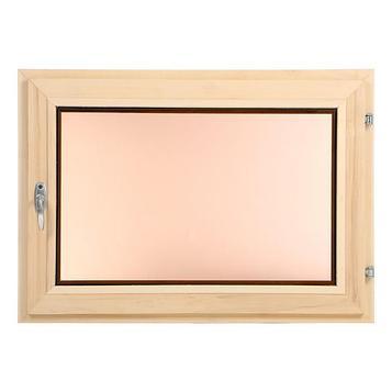 Окно, 50×70см, двойной стеклопакет, тонированное, из липы
