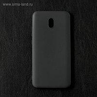 Чехол Qumann, для Xiaomi Redmi 8A, силиконовый, матовый, черный