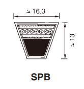 SPB 2500 RP ремень optibelt RED POWER 3