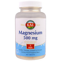 Магний 500 мг. Magnesium. KAL