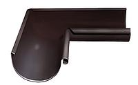 Угол желоба внутренний 90 гр 125 мм RAL 8017 Коричневый
