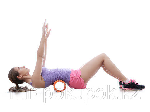Массажный гимнастический валик (цилиндр) 33 см - фото 1