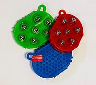 Роликовый массажер для тела Силиконовый 7 шариков, фото 1