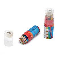 Цветные карандаши 12цв Deli 6498 в тубе