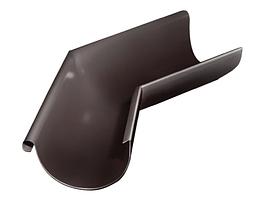 Угол желоба внешний 135 гр 125 мм RAL 8017 Коричневый