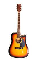 Акустическая гитара, санберст, с вырезом, Homage LF-4121C-SB